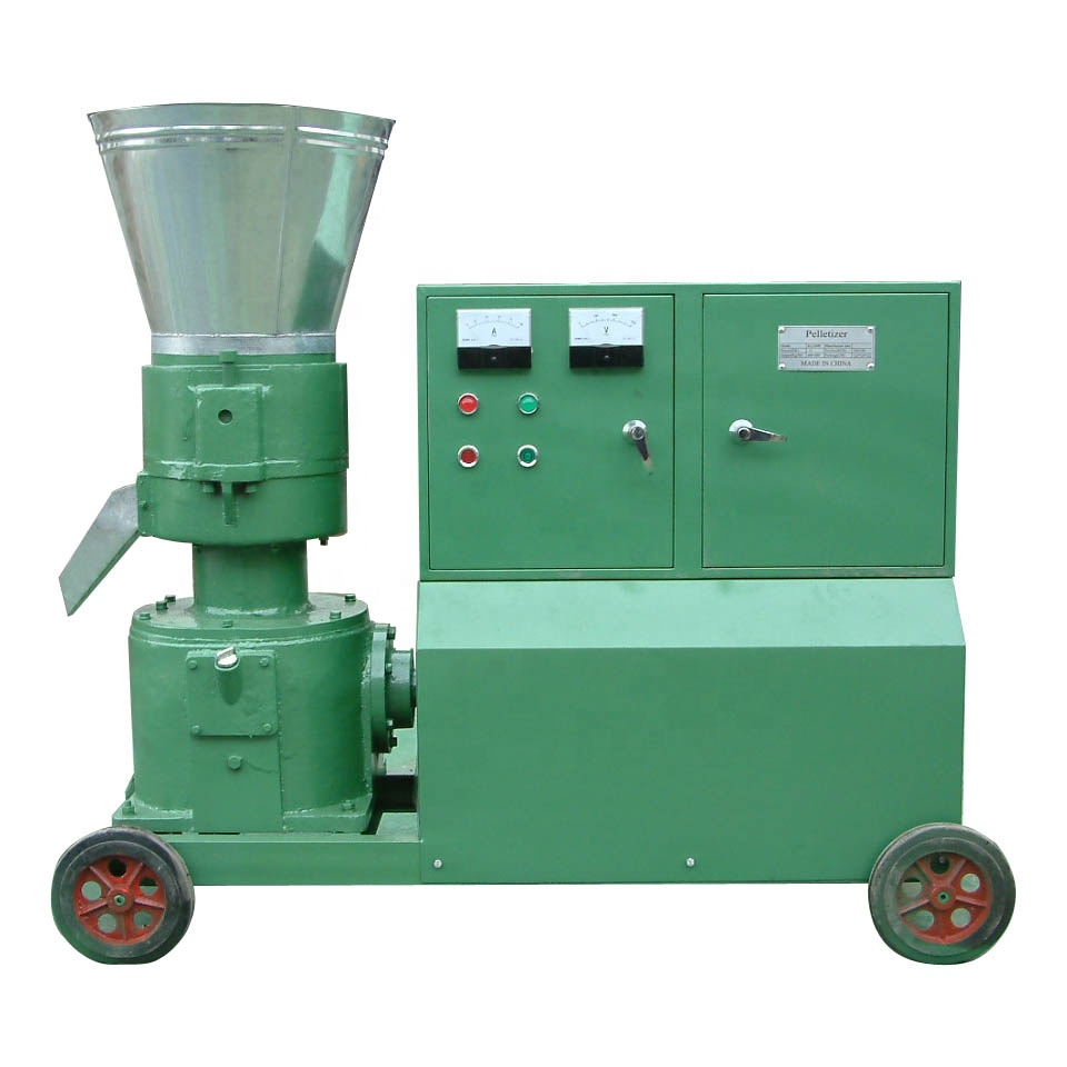 High Quality Farm Use Biomass Husk Straw Pelletizing Designed Flat Die Small Wood <strong>Pellet</strong> Making Machine