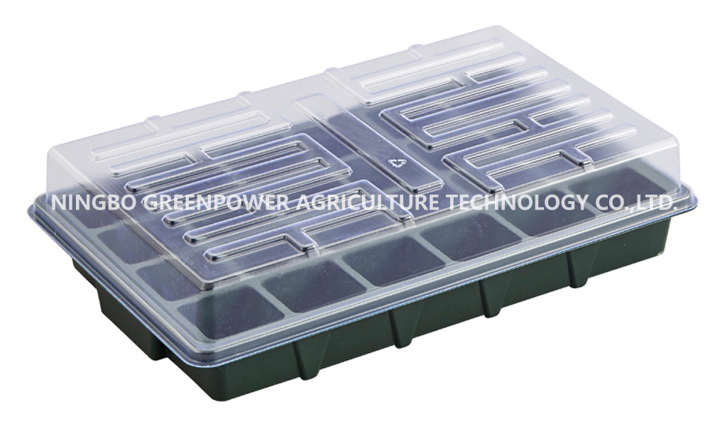 NICEXMAS Seed Trays Seedling Starter Tray Plastic Garden Propagator Tray with Dome Greenhouse Grow Trays for Seeds Growing Starting Propagation