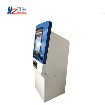 Self Checkout Machine Hotel Payment/ Card Printer Kiosk Self Check In And Check Out Kiosk 1 Or 2 Touch Screen