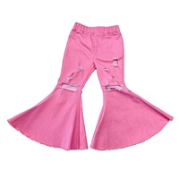 New Design Pants Bell-Bottom Trousers Toddler Distressed Jeans For Baby