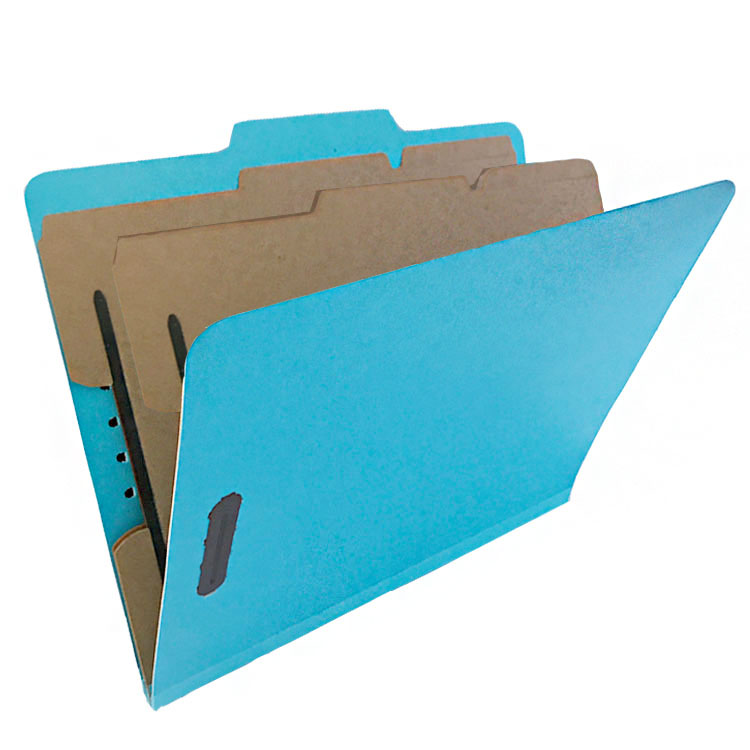 Amazon Top Seller Pressboard Classification File Folder With Safe Shield Fasteners, Durable 2 Prongs Designed,2-hole File Folder