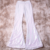 Women Glitter Flared Trousers For Party Mommy and Me Girl Linen High Quality Long White Sequin Bell Bottom Pants