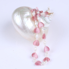 Stone Necklace Jewelry Wholesale Natural pearl Heart Shape Crystal Necklace
