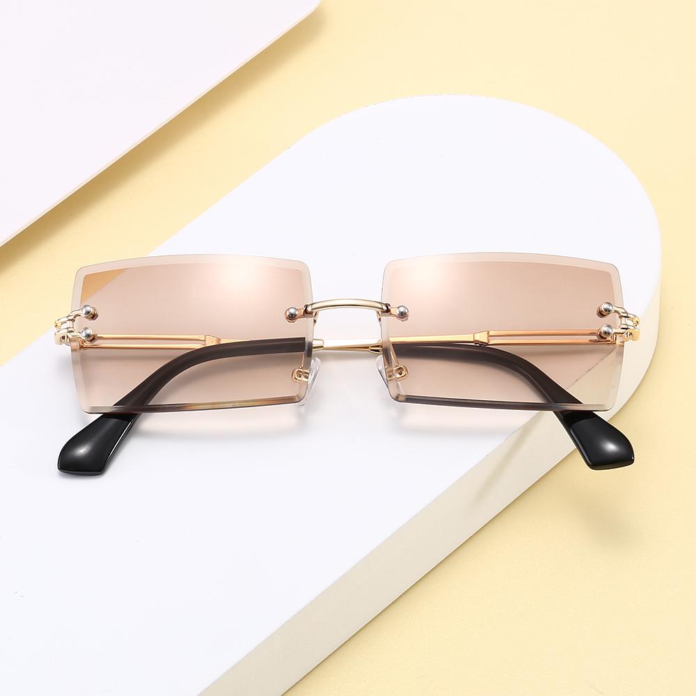 Superhot Eyewear A0365 Fashion 2020 Women Sun glasses Ladies Rimless Small Rectangle Sun Glasses