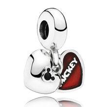 Эмаль мать и дочь сын любовь сердца подвеска для лучших друзей Шарм Fit Pandora браслет бусины из стерлингового серебра 925 ювелирные изделия(Китай)
