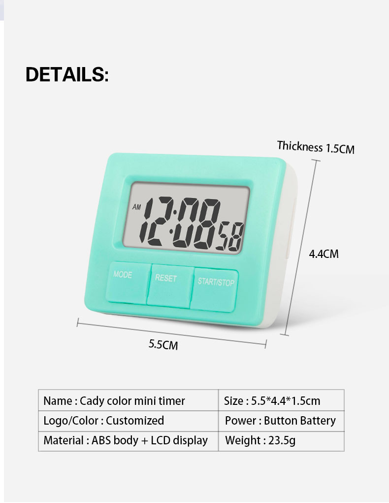 Small Size Countdown Digital Kitchen Timer with Stent