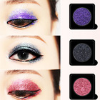 Customized Makeup Rainbow Eyes Glitter silver glitter eyeshadow for Makeup Face Body Eye