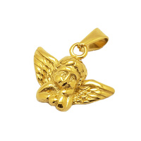 Olivia In Stock Stainless Steel 316L Mens hips hops Angel Baby Mini Charm Necklace Cupid Angel Pendants 18K Gold Plated Pendant