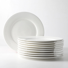 Catering Used Ceramic Plates Set 8 Inch Restaurant White Porcelain Dishes and Plates