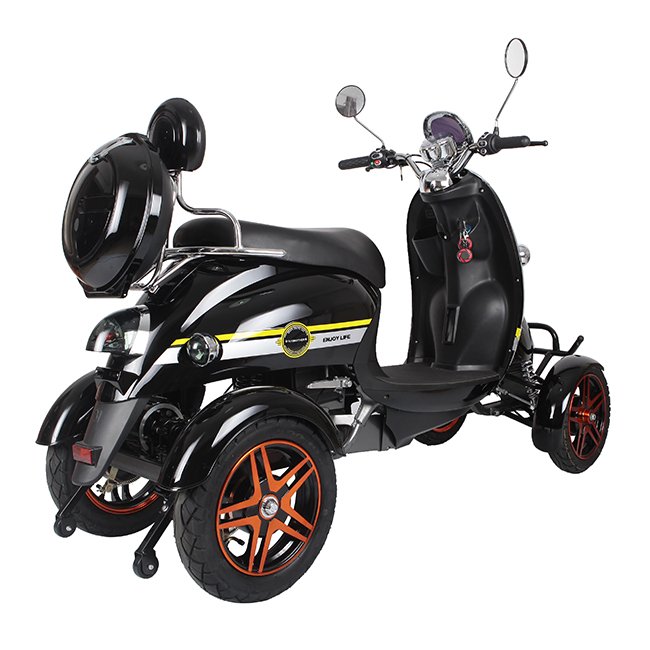 Powerful Backrest cheap electric scooter four wheel electric scooter