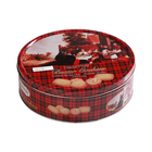 Cookies Biscuit Tin Round storage box Metal Snack box Food Container Gift Box Candy Can Mix design