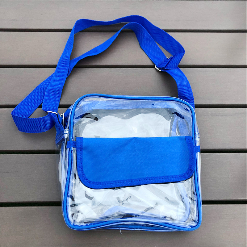 Wholesale Fashion Ladies Clear PVC Colorful Crossbody Cosmetic Bag