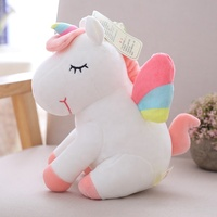 2020 Most Popular Fashion Cute OEM Design Soft Plush White Unicorn With Wings Stuffed Animal Toy Manufacturer