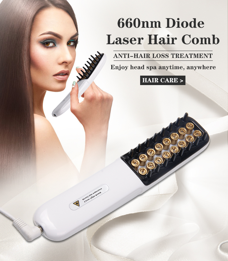 CE 16 Diode Laser 660nm Wavelength 30mW Comb For Anit-Hair Removal Hair Loss Regrowth Treatment