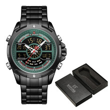 Часы NAVIFORCE для мужчин, топовые Роскошные брендовые деловые кварцевые мужские часы, водонепроницаемые наручные часы из нержавеющей стали, ...(Китай)