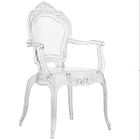 Acrylic High Quality Clear Transparent Throne Plastic Dining Chair with Handle