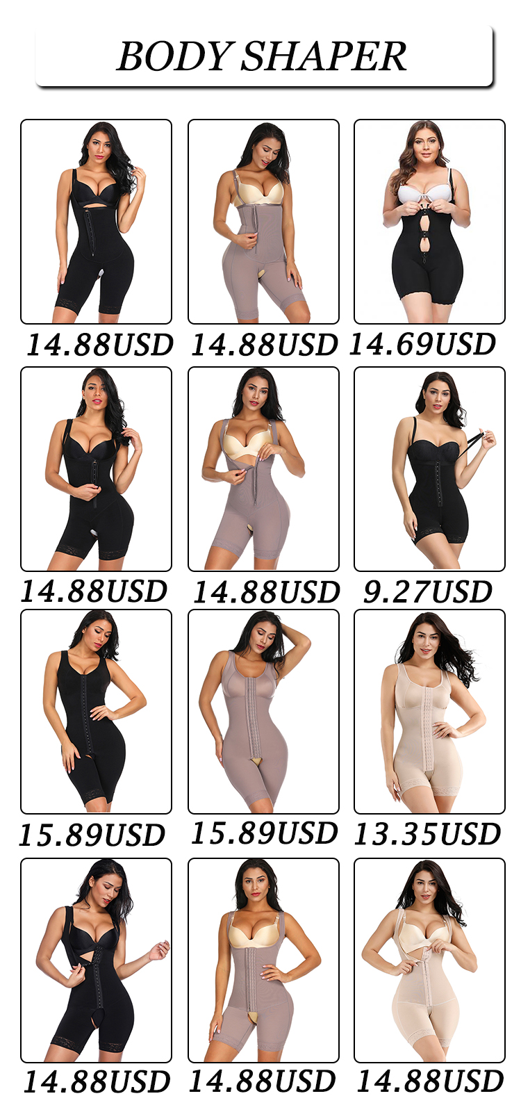 High Waisted Big Hip Enhancer Seamless Shapewear Women Seamless Body Shaper Underwear