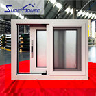 Double glass single pane garage door slide aluminum windows