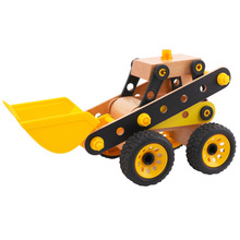 Educational  Wooden Vehicle, STEM Take Apart Toys for Kids, DIY Construction Puzzle playsets ,Self Assembly kits