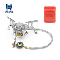 HOMFUL Ultralight Aluminum Alloy Camping Stove Outdoor Burn Portable Camping Gas Stove