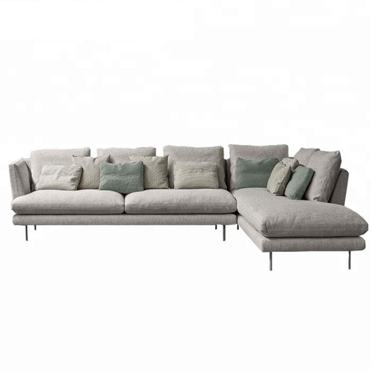 Living Room Furniture Sofa Grey L