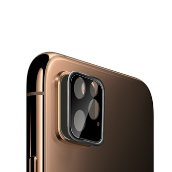 High Quality 5D Full Cover 9H Temper Glass Plating Aluminum Lens Camera Protector for iphone 11 Camera Cover Ring with Glass
