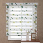 OHYES Custom Floral Print Retractable Roller Shades Blackout Shangri-La Blinds