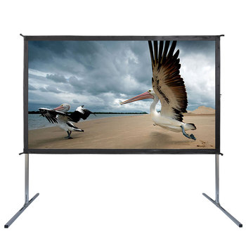 16/9 floor standing manual Mobile multi-function Lightweight free Cheap Movie Home Video tripod projection screen