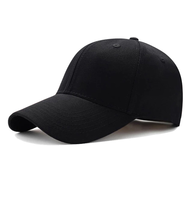 High Quality Custom Black New Blank Plain Cotton Sport Hats 6 Panel Baseball <strong>Cap</strong>