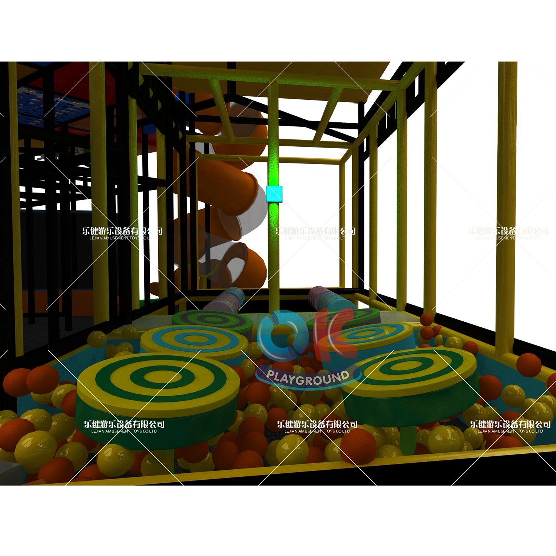 WVT 3-12 years new system fun fitness theme adventure park children ninja warrior rope course kids indoor playground equipment