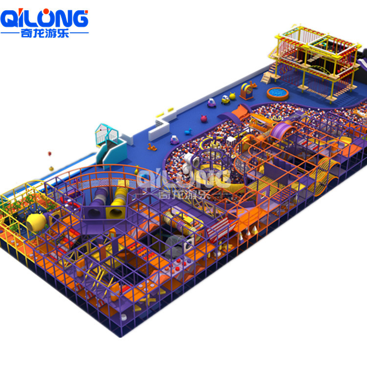 Customized Kids Soft Play Climbing Children Playground Indoor, Indoor Playground With Ball Pool And Colorful Slides