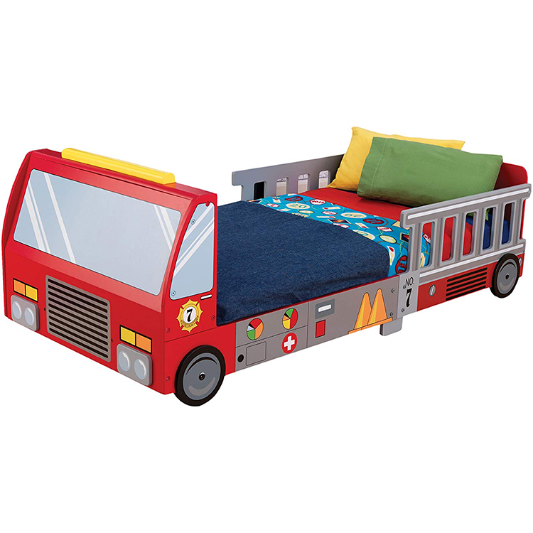 The Bed In The Shape Of A Van Can Be Changed To A Single Bed, Red,Kids Bed