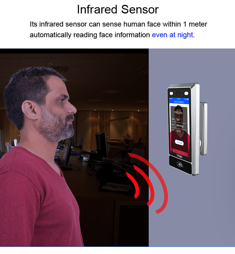 Telpo TPS980 Smart Wireless face authentication system with Infrared sensor HDR camera