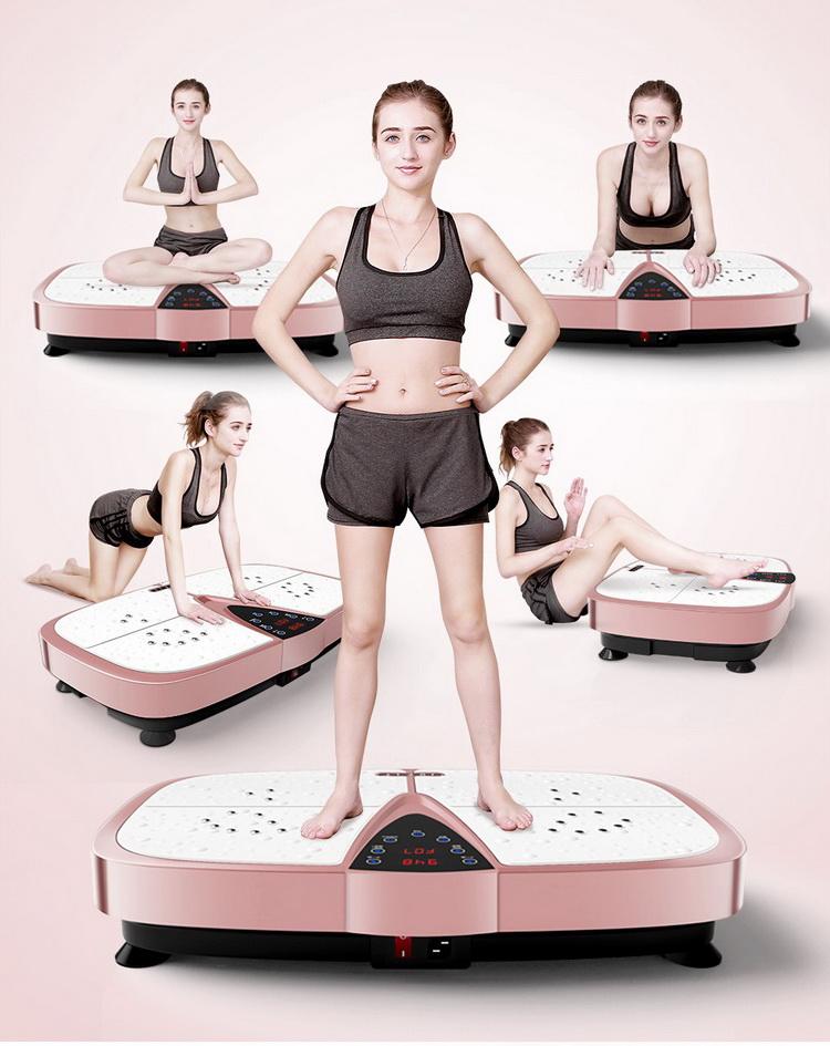 Proveedor de China gimnasio equipo venta al por mayor a casa ejercicio 200 W vibraciones de cuerpo completo placa multifuncional máquina de fitness