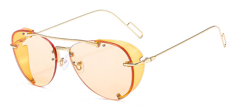 2020 Vintage Transparent Steampunk Rainbow Designer Women Men Pilot Sunglasses