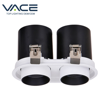 VACE 알루미늄 현대 Dimmable Recessed COB 블랙 천장 조명 25 <span class=keywords><strong>50</strong></span> 75 와트 Led 통