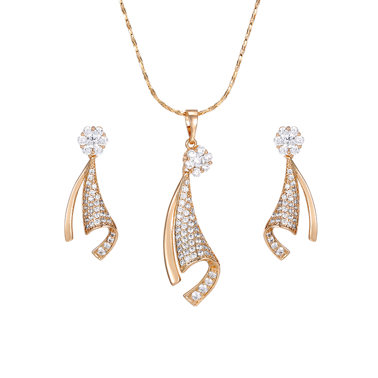 64259 Xuping saudi gold jewelry, wholesale Jewelry Fashion 18k gold Plated Brass Jewelry <strong>Sets</strong>, jewelrysets