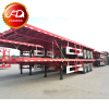 September promotion 10% discount price 3 axles 40ft flatbed trailers