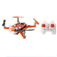 Newest 2.4G building blocks RC quadcopter assembly 4-axis rc drone DIY Kit for Kids
