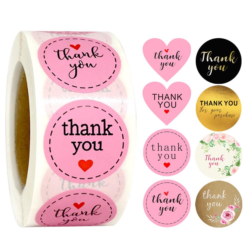 romantic round stickers