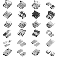 24pin 16pin Type C Female Plug 180 degree SMT 3.1 USB Connector