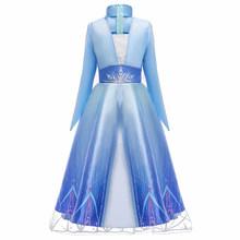 Платье Снежной Королевы Эльзы для костюмированной вечеринки; костюмы Эльзы; платье для девочек; платье принцессы Анны для вечеринки; Vestidos ...(China)