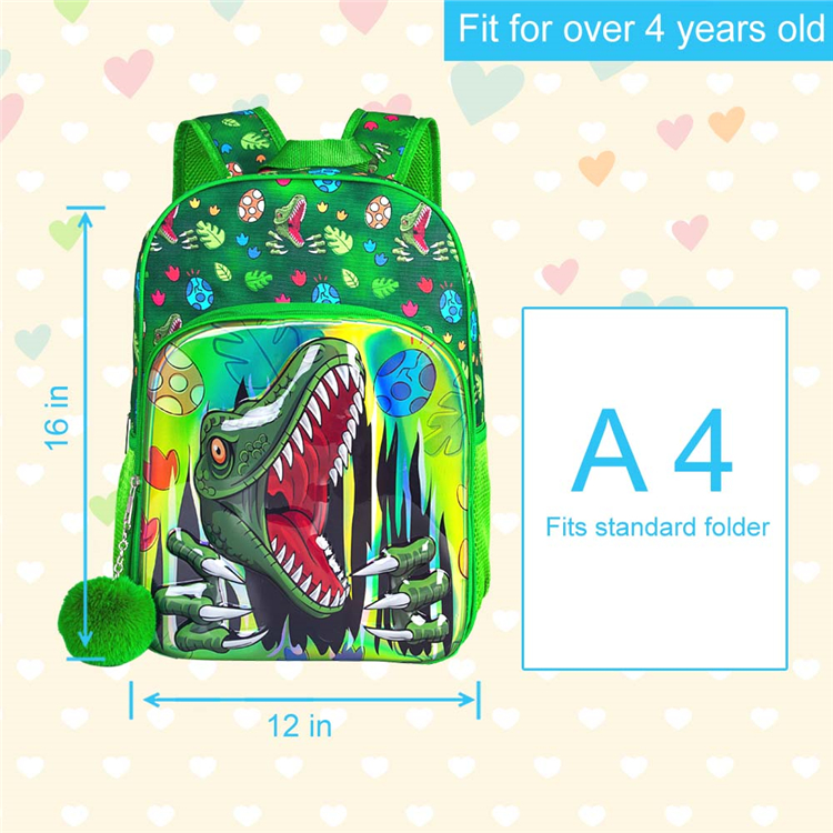 High quality cheap customized children backpack dinosaur cartoon kids backpack  cute school bags