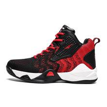 Баскетбольная обувь для мужчин, баскетбольные кроссовки с воздушной подушкой, противоскользящие мужские кроссовки с высоким берцем, дышащ...(Китай)