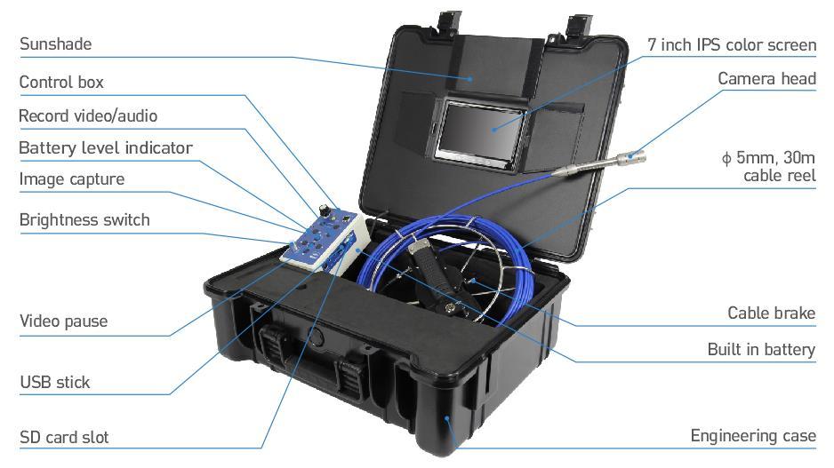 2018 new pipe drain sewer underwater plumbing deep well cctv endorscope waterproof camera