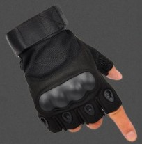 Camouflage Outdoor Tactical Mitten Driving Cycling Motorcycle Waterproof Fingerless Gloves for Men