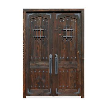 Kuno Desain Baru Dekoratif Gerbang Besi Kayu Pintu Besi Pintu Kayu