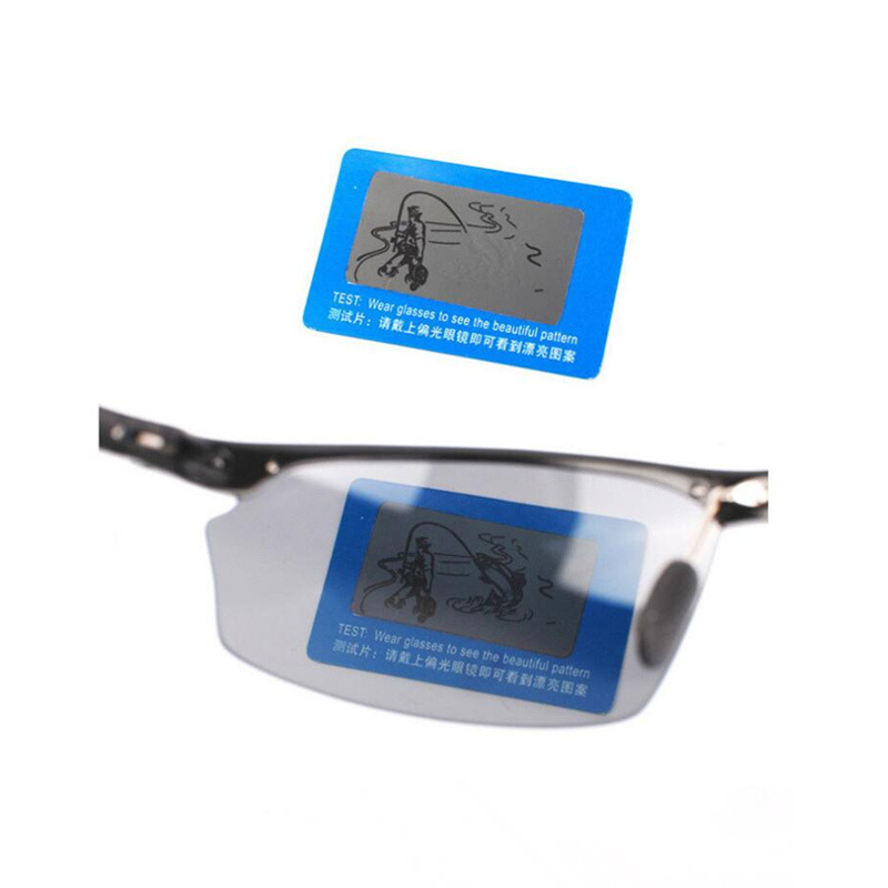 Cheap wholesale glasses accessories custom polarized sunglasses test picture card