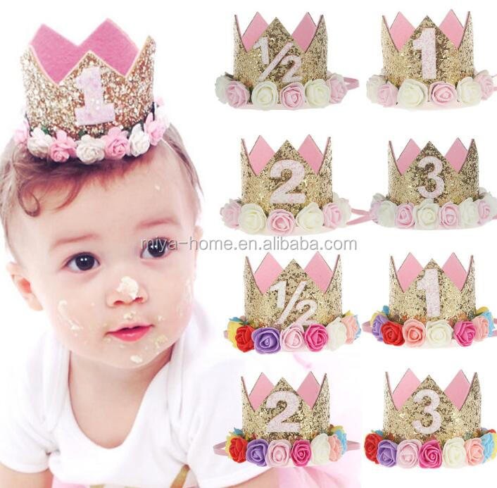 Hot Selling  Baby Birthday Party Headwear / Children Hairband / Crown Hair Accessories