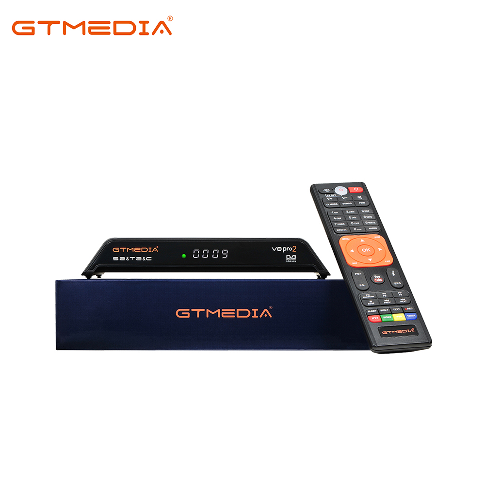 GTMEDIA V8 PRO2 H.265 Satellite TV Receiver HD 1080P DVB S2+T2+Cable/ISDB-T Built-in WiFi Double Tuner Free to Air TV Box